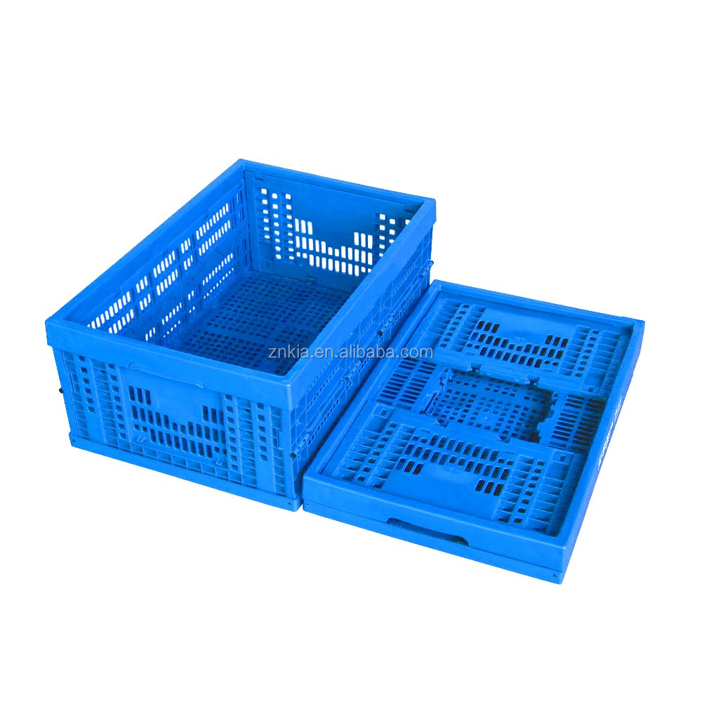 eco-friendly plastic material plastic straight wall mesh type storage container