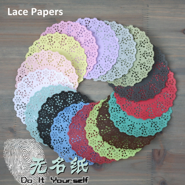 DIY Decorative 4.5inches Lace Paper Flowers Thin Paper