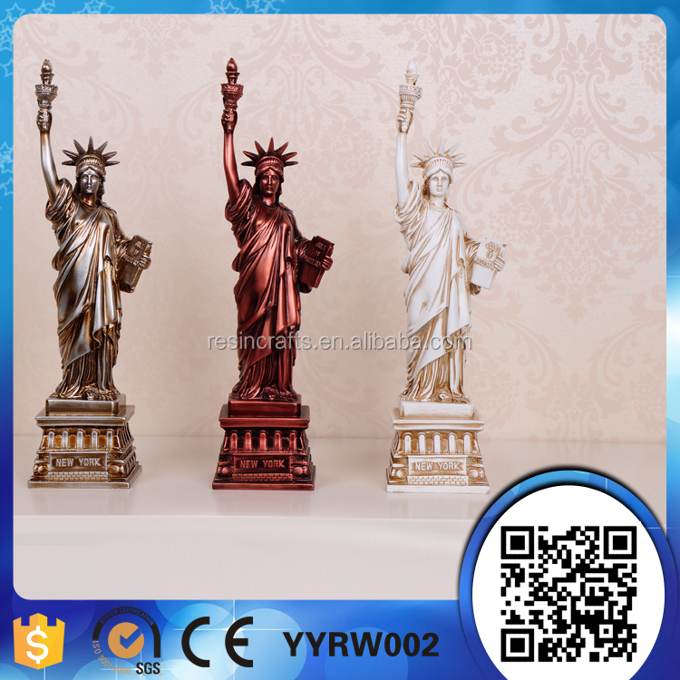 poly resin plastic statue of liberty figurine