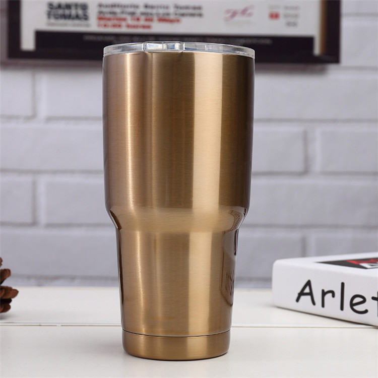 Double Wall Vacuum Insulated Stainless Steel 30 oz Travel Wine Tumbler with lid