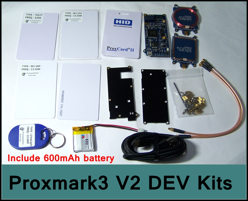 [RedStar]ELECHOUSE Proxmark3 V2 DEV kits nfc RFID reader Development tool  latest version 2 mfoc card clone crack include battery - drone4sky