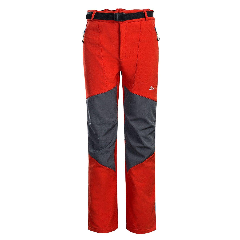 MOUNT CONQUER Topway Men's Soft Shell Windproof Sport Outdoor Fleece Liner Pants Long Trousers