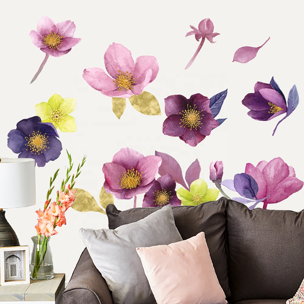 Картинка на стене цветы