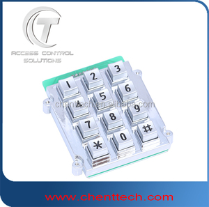 IP65 die cast keypad for outdoor telephone payphone keypad