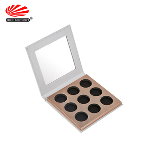 Wholesale Custom Luxury Empty Single Rigid Cardboard Paper Packaging Gift Cosmetic Box Palette Eyeshadow Pan Packaging