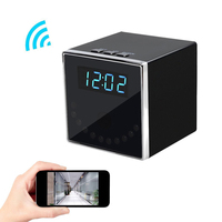 Full HD 1920*1080P Wireless Hidden Camera Network IP Nanny Cam HD 1080P WiFi Home Spy Security Camera Black Cube Table Ala PQ254