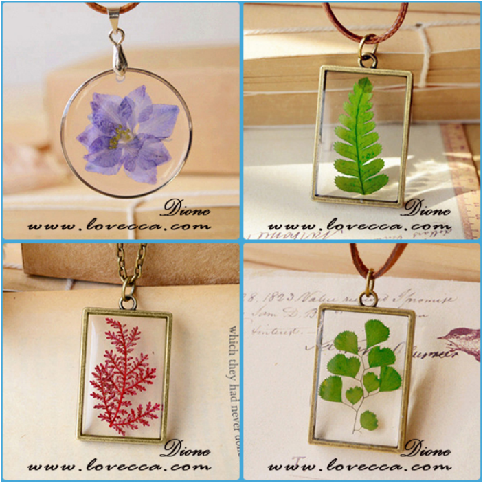 Winter\'s Secret Diy Getrocknete Blaue Blume Harz Anhänger Kreative ...