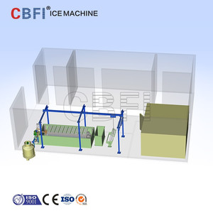 CBFI big ice maker for ice factory from 1ton to 120ton