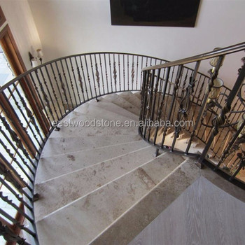 Chinese Travertine Coffee Travertine Stair Treads