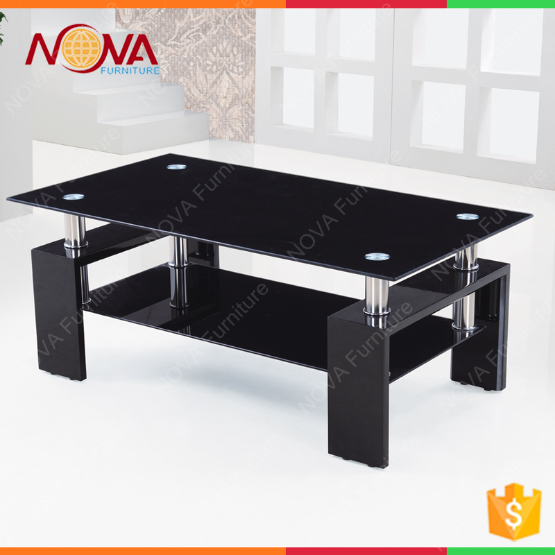 Multifunction modern design glass coffee table with low price for Home Furniture