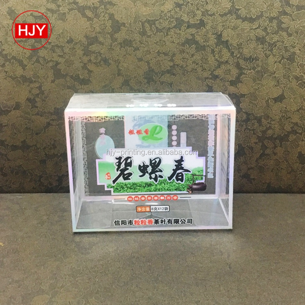 Manufacturers of customized low-temperature antifreezing transparent PVC Tieguanyin tea box customized plastic packaging