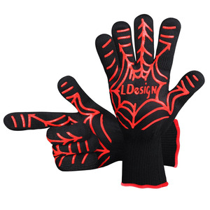 New Promotional BBQ Grilling Cooking Gloves With Heat Resistant