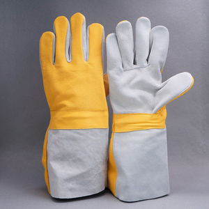 Movan Premium Cow Split Leather Heat Resistant TIG Welding Gloves For Oven/Grill/Fireplace/Tig Welder/Mig/BBQ