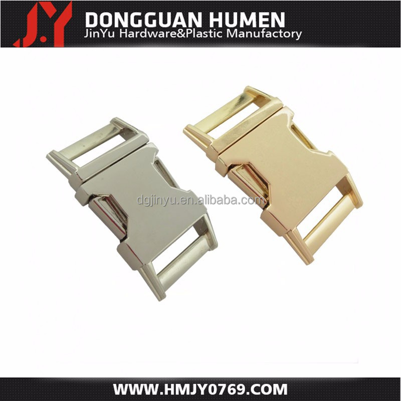 Dongguan Jinyu wholesale metal buckles, curved metal buckle, quick release belt buckle
