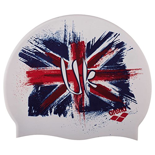 Arena Print Silicone Swim Cap UK Flag