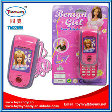 Good quatity shiny color kid toy made in China plastic mobile phone toy mobile phone for kids