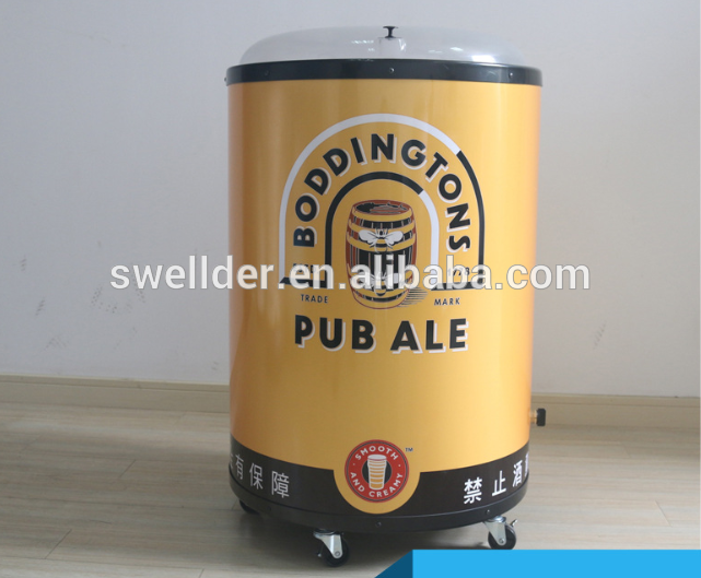 customized vacuum forming Beer/ beverage promotional ice barrel, barrel cooler, can cooler