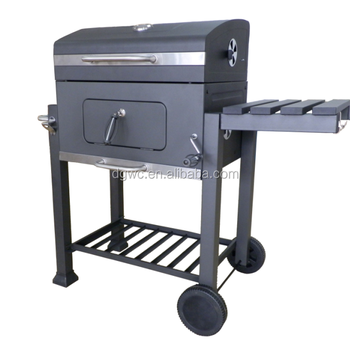 Oversize Big Adjustable Height Charcoal BBQ Grill Patio Barbecue Grill