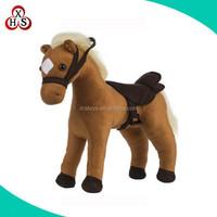kids custom stuffed plush standing battery operated toy horse