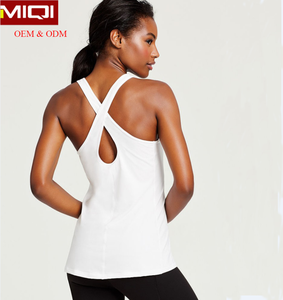 Latest Womens Tank top Cross Back Bodybuilding Singlet Womens Fitness Clothing