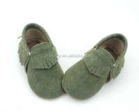 Newborn Baby PU Leather Tassel moccasins shoes Soft Sole leather baby shoes