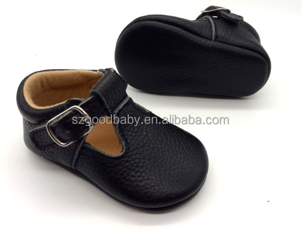 wholesale genuine leather mary jane back school black baby girl shoes