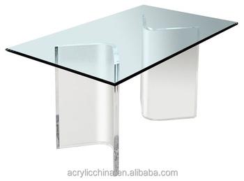 Custom Made Acrylic Dining Table Base,clear Lucite/perspex Acrylic Kitchen  Dining Table Base
