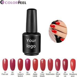 Soak off private label three steps uv nail uv gel color