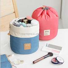 High quality Candy color Cylindrical cosmetic bag / Strand outlet travel bag / make up bag