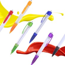 Promotional colorful advertising durable ballpoint banner pen