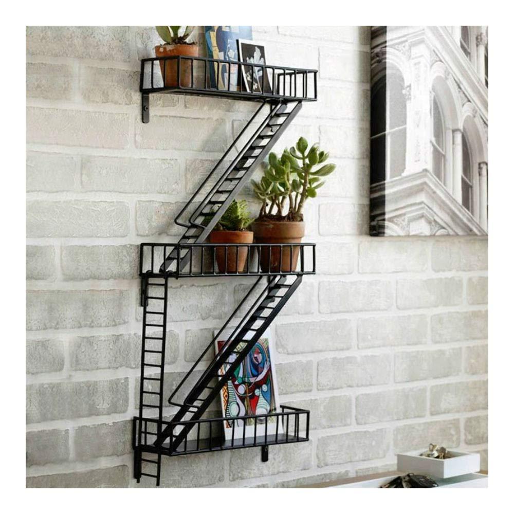 Fire Escape Modern Home Ladder Wall Decor Shelf Plant Photo Display Design Ideas