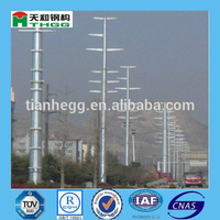 Electric power transmission lines steel tublar pole