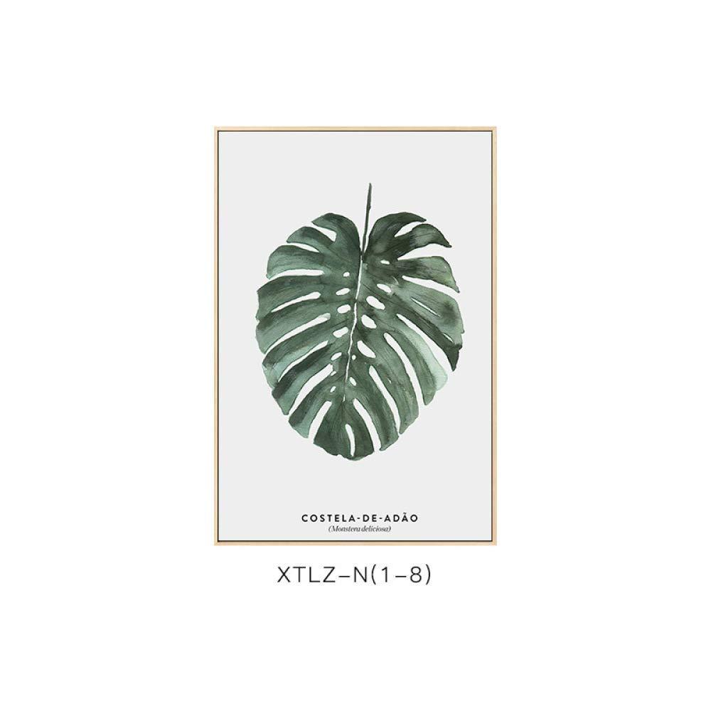 STTS Simple framed greenery, simple modern plant pattern, elegant style, elegant living room bedroom decoration painting
