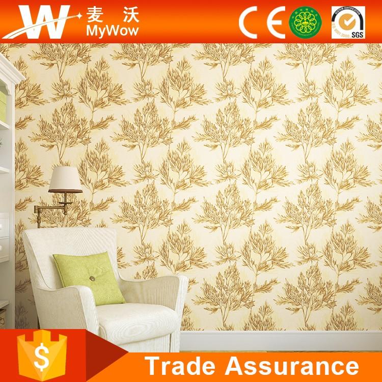 Natuurlijke ontwerp pvc vinyl wandbekleding behang met bomen patroon wallpapers wand coating - Ontwerp wandbekleding ...