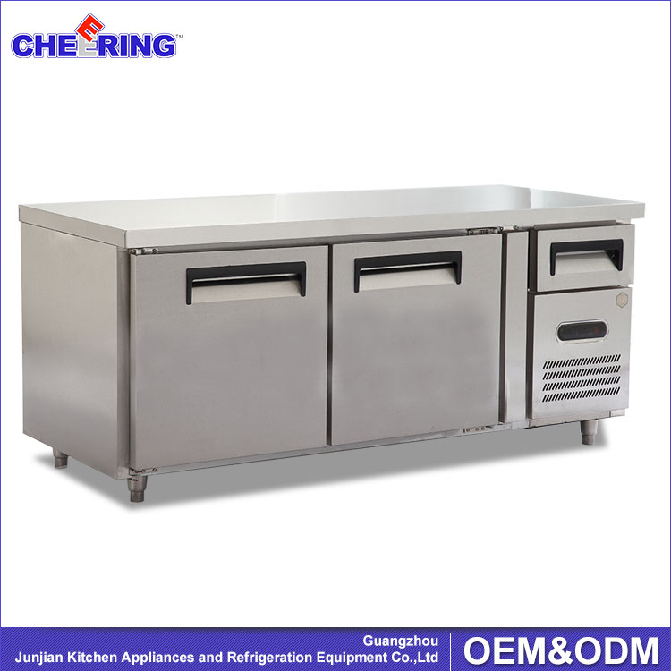 Stainless Steel Commercial Kitchen Table Top Freezer / Compressor ...
