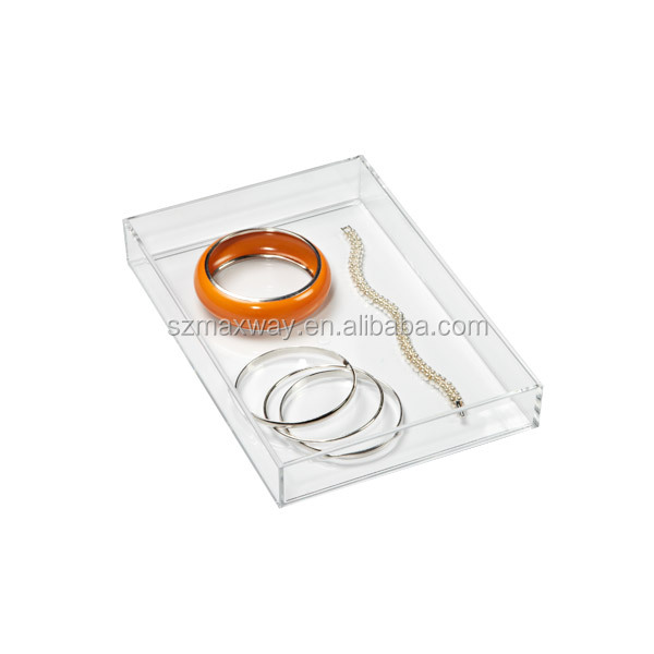 Serviceable clear acrylic accessories tray serving tray display trays for sale