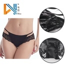 low waist transparent panties lace sexy ladies underpant with hollow out design