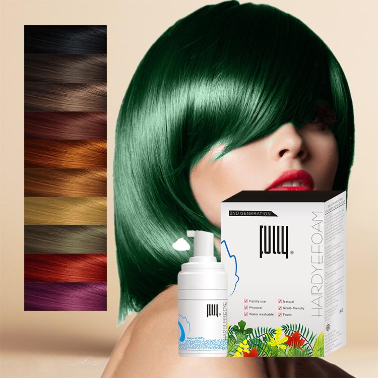 Synthetic Temporary Color Semi Permanent Professional Hair Dye Colors Foam  Shampoo - Buy Synthetic Hair Dye,Semi Permanent Hair Dye,Hair Color Dye ...