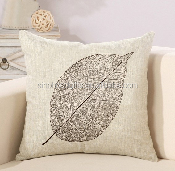 one color silk screen printing 18*18inch Polyester Pillow cover