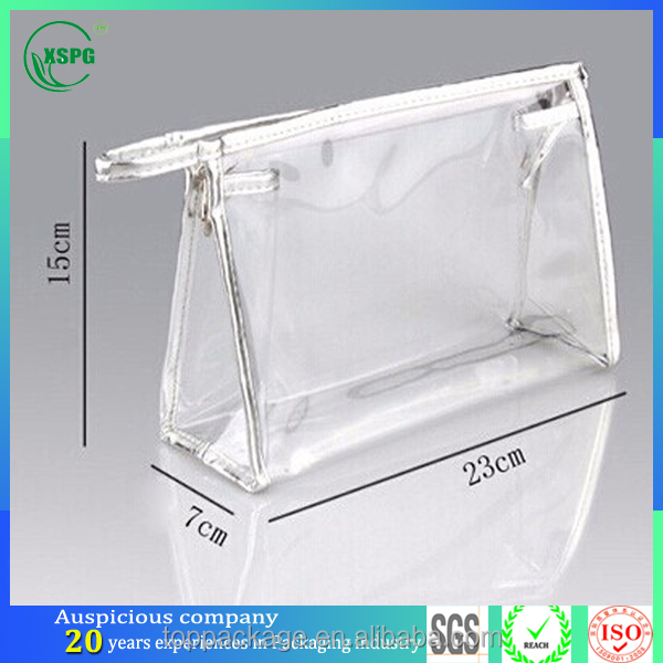 OEM ODM companies manufacture pvc clear plastic bags with zipper