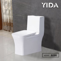 Professional safety elongated siphon flushing ceramic water closet for bathroom with slow down seat cover pissing toilet