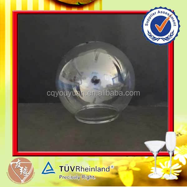 Thermal Heat Blowning Outdoor Round Glass Street Lamp Cover