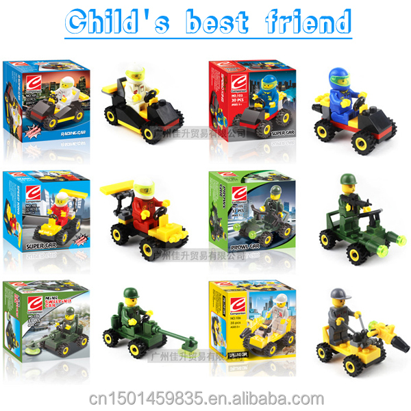 Mini blocks car models <strong>city</strong> character building blocks action figure toys for kids