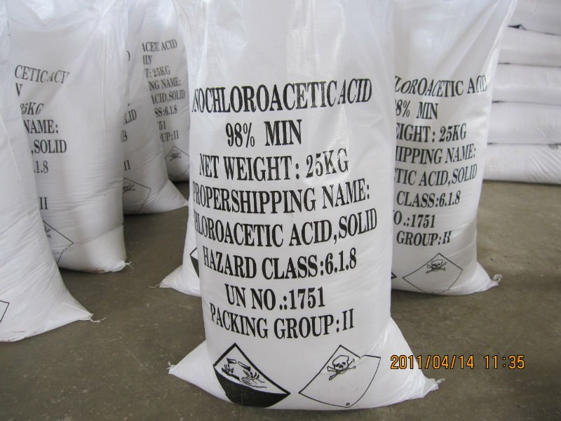 chemicals for industrial mono chloroacetic acid 98%
