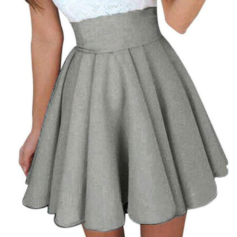 39c4a4273a2e Get Quotations · Kinrui Women Summer Mini Dress Skirt Short Sleeve Skater  Party Cocktail Dresses