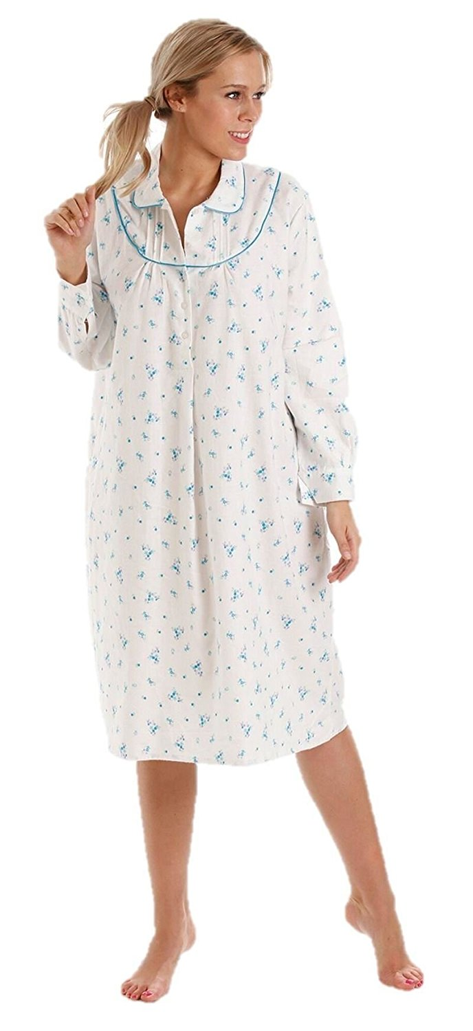 Get Quotations · Lady olga Winceyette Nightdress 100% Brushed Cotton Warm  10-24 a31d9a480