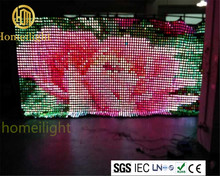 RGB Colorful Portable Stage Backdrop P10cm 6*8mLED Star Vision Curtain For wedding Disco Club