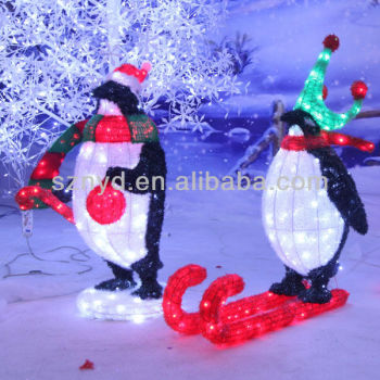 led penguin for outdoor christmas decoration