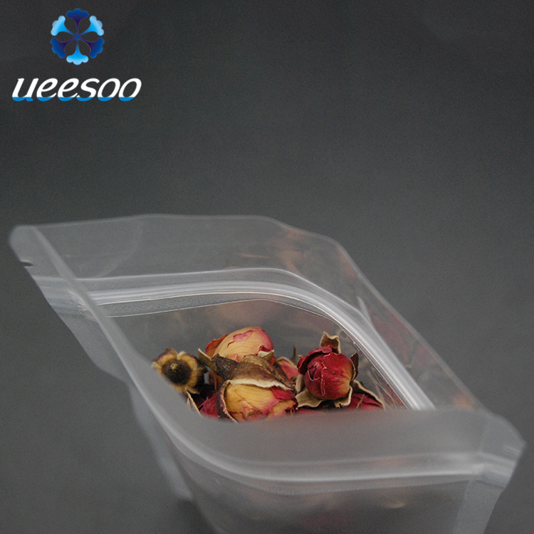 Free Sample PLA Custom Clear Biodegradable Plastic Bag Stand Up Pouch Zipper Bag for Food