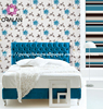 Newest TOP Selling Korea Style WallPaper With Nice bright flowers wall paper PVC waterproof material